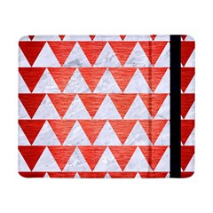 Triangle2 White Marble & Red Brushed Metal Samsung Galaxy Tab Pro 8 4  Flip Case by trendistuff