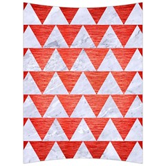 Triangle2 White Marble & Red Brushed Metal Back Support Cushion by trendistuff
