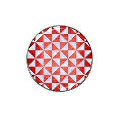 Triangle1 White Marble & Red Brushed Metal Hat Clip Ball Marker (10 Pack) by trendistuff