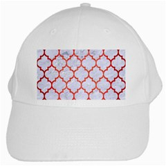 Tile1 White Marble & Red Brushed Metal (r) White Cap by trendistuff