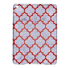 Tile1 White Marble & Red Brushed Metal (r) Ipad Air 2 Hardshell Cases by trendistuff