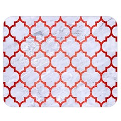 Tile1 White Marble & Red Brushed Metal (r) Double Sided Flano Blanket (medium)  by trendistuff