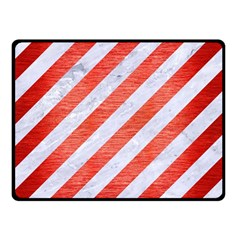 Stripes3 White Marble & Red Brushed Metal (r) Double Sided Fleece Blanket (small)  by trendistuff