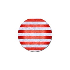 Stripes2white Marble & Red Brushed Metal Golf Ball Marker (10 Pack) by trendistuff