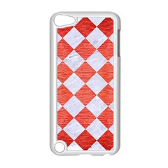 Square2 White Marble & Red Brushed Metal Apple Ipod Touch 5 Case (white) by trendistuff