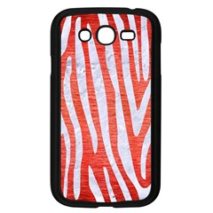 Skin4 White Marble & Red Brushed Metal (r) Samsung Galaxy Grand Duos I9082 Case (black) by trendistuff