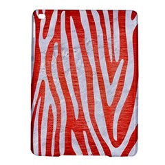 Skin4 White Marble & Red Brushed Metal (r) Ipad Air 2 Hardshell Cases by trendistuff