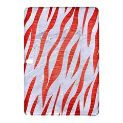 Skin3 White Marble & Red Brushed Metal (r) Samsung Galaxy Tab Pro 12 2 Hardshell Case by trendistuff