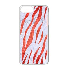 Skin3 White Marble & Red Brushed Metal (r) Apple Iphone 7 Plus Seamless Case (white) by trendistuff