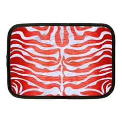 Skin2 White Marble & Red Brushed Metal Netbook Case (medium)  by trendistuff