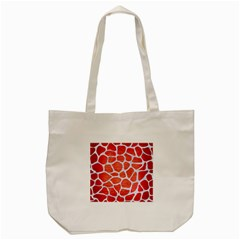 Skin1 White Marble & Red Brushed Metal (r) Tote Bag (cream) by trendistuff