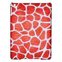 Skin1 White Marble & Red Brushed Metal (r) Ipad Air Hardshell Cases by trendistuff