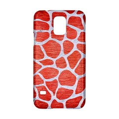 Skin1 White Marble & Red Brushed Metal (r) Samsung Galaxy S5 Hardshell Case  by trendistuff