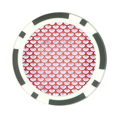 Scales3 White Marble & Red Brushed Metal (r) Poker Chip Card Guard (10 Pack) by trendistuff