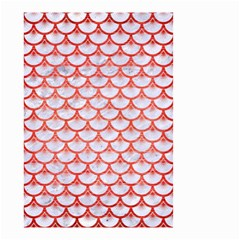 Scales3 White Marble & Red Brushed Metal (r) Small Garden Flag (two Sides) by trendistuff