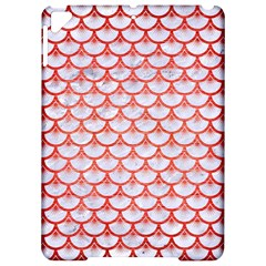 Scales3 White Marble & Red Brushed Metal (r) Apple Ipad Pro 9 7   Hardshell Case by trendistuff