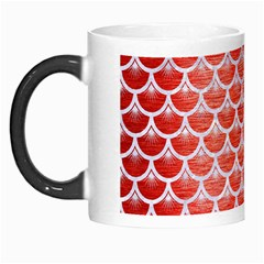 Scales3 White Marble & Red Brushed Metal Morph Mugs by trendistuff
