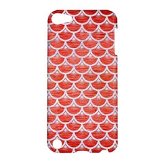 Scales3 White Marble & Red Brushed Metal Apple Ipod Touch 5 Hardshell Case by trendistuff