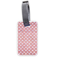 Scales2 White Marble & Red Brushed Metal (r) Luggage Tags (two Sides) by trendistuff