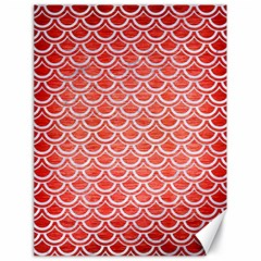 Scales2 White Marble & Red Brushed Metal Canvas 18  X 24   by trendistuff