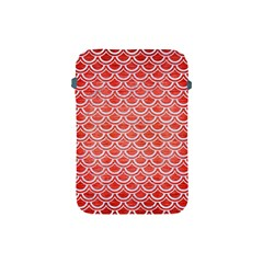 Scales2 White Marble & Red Brushed Metal Apple Ipad Mini Protective Soft Cases by trendistuff