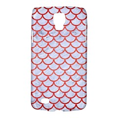 Scales1 White Marble & Red Brushed Metal (r) Galaxy S4 Active by trendistuff