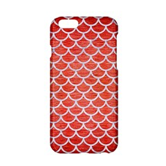Scales1 White Marble & Red Brushed Metal Apple Iphone 6/6s Hardshell Case by trendistuff