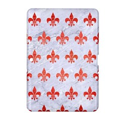 Royal1 White Marble & Red Brushed Metal Samsung Galaxy Tab 2 (10 1 ) P5100 Hardshell Case  by trendistuff