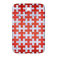 Puzzle1 White Marble & Red Brushed Metal Samsung Galaxy Note 8 0 N5100 Hardshell Case  by trendistuff