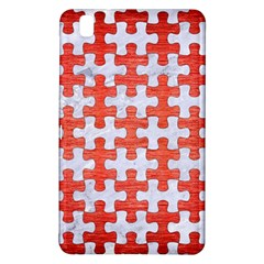 Puzzle1 White Marble & Red Brushed Metal Samsung Galaxy Tab Pro 8 4 Hardshell Case by trendistuff