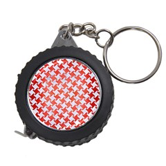 Houndstooth2 White Marble & Red Brushed Metal Measuring Tape by trendistuff