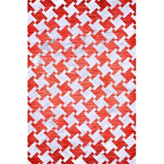 Houndstooth2 White Marble & Red Brushed Metal 5 5  X 8 5  Notebooks by trendistuff