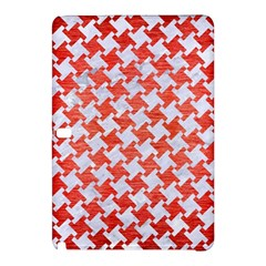 Houndstooth2 White Marble & Red Brushed Metal Samsung Galaxy Tab Pro 12 2 Hardshell Case by trendistuff