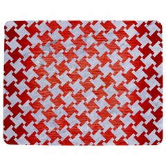 Houndstooth2 White Marble & Red Brushed Metal Jigsaw Puzzle Photo Stand (rectangular) by trendistuff
