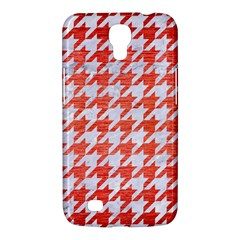 Houndstooth1 White Marble & Red Brushed Metal Samsung Galaxy Mega 6 3  I9200 Hardshell Case by trendistuff