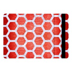 Hexagon2 White Marble & Red Brushed Metal Apple Ipad Pro 10 5   Flip Case by trendistuff