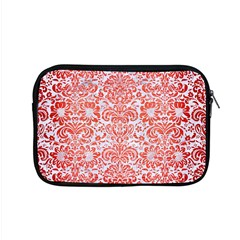 Damask2 White Marble & Red Brushed Metal (r) Apple Macbook Pro 15  Zipper Case by trendistuff