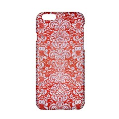 Damask2 White Marble & Red Brushed Metal Apple Iphone 6/6s Hardshell Case by trendistuff