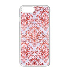 Damask1 White Marble & Red Brushed Metal (r) Apple Iphone 7 Plus Seamless Case (white) by trendistuff