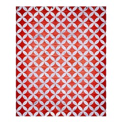 Circles3 White Marble & Red Brushed Metal Shower Curtain 60  X 72  (medium)  by trendistuff