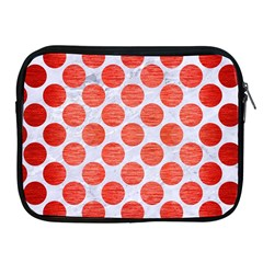 Circles2 White Marble & Red Brushed Metal (r) Apple Ipad 2/3/4 Zipper Cases by trendistuff