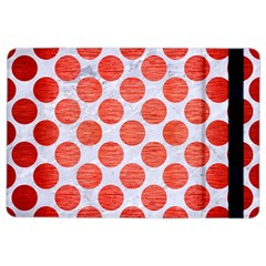Circles2 White Marble & Red Brushed Metal (r) Ipad Air 2 Flip by trendistuff