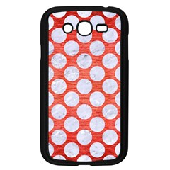Circles2 White Marble & Red Brushed Metal Samsung Galaxy Grand Duos I9082 Case (black) by trendistuff