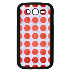 Circles1 White Marble & Red Brushed Metal (r) Samsung Galaxy Grand Duos I9082 Case (black) by trendistuff