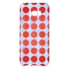 Circles1 White Marble & Red Brushed Metal (r) Samsung Galaxy S8 Plus Hardshell Case  by trendistuff