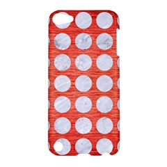 Circles1 White Marble & Red Brushed Metal Apple Ipod Touch 5 Hardshell Case by trendistuff