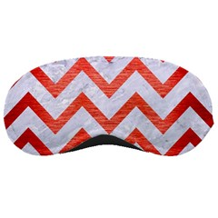 Chevron9 White Marble & Red Brushed Metal (r) Sleeping Masks by trendistuff