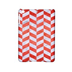 Chevron1 White Marble & Red Brushed Metal Ipad Mini 2 Hardshell Cases by trendistuff