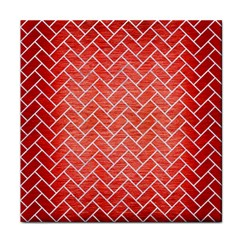 Brick2 White Marble & Red Brushed Metal Tile Coasters by trendistuff