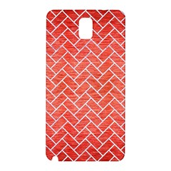 Brick2 White Marble & Red Brushed Metal Samsung Galaxy Note 3 N9005 Hardshell Back Case by trendistuff